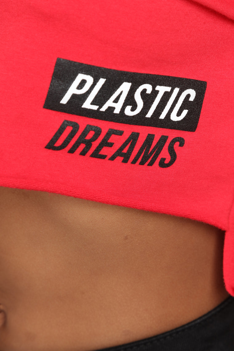 Plastic Dreams Sweatshirt - Red