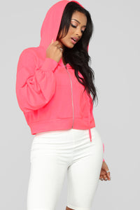 Give Me Attention Jacket - Neon Pink