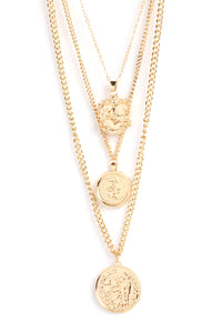 Larissa Coin Necklace - Gold