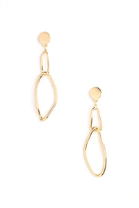 Hanging Out Together Earrings - Gold