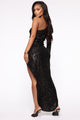 And The Winner Is Sequin Maxi Dress - Black