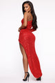And The Winner Is Sequin Maxi Dress - Red