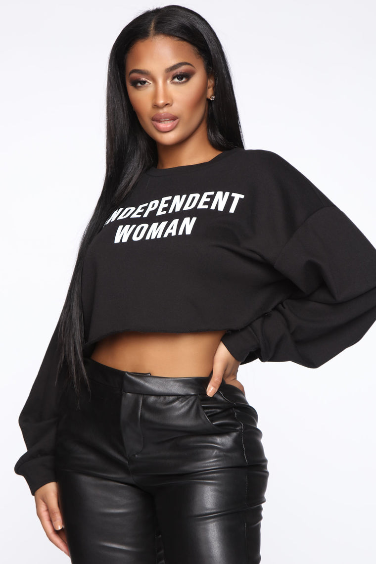 independent-woman-sweatshirt---black by fashion-nova