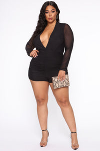 Bright Minds Mesh Romper - Black