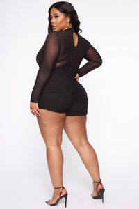Bright Minds Mesh Romper - Black Angle 6