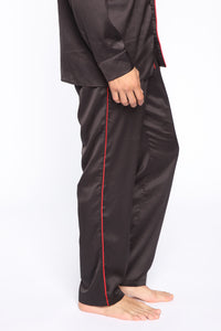 Evening Lounge Satin Pant - Black