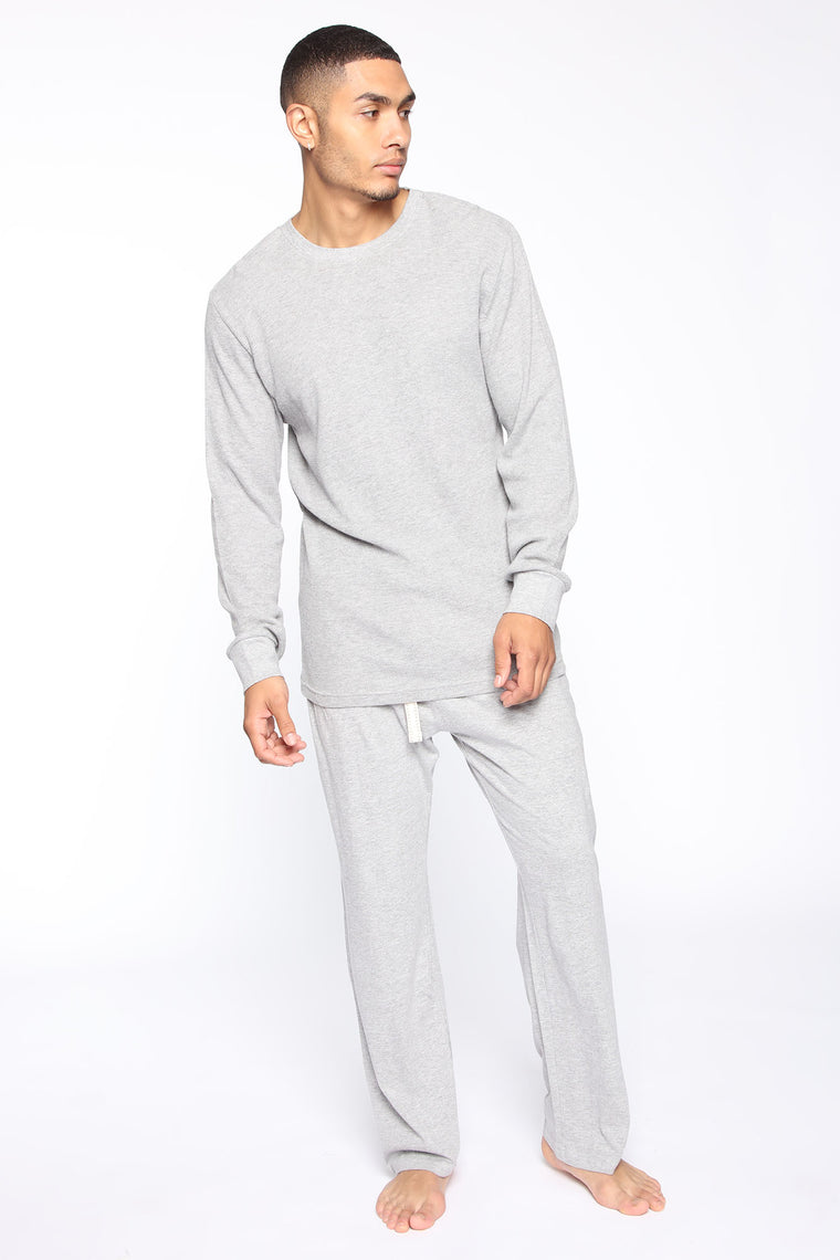 Essential Modern Fit PJ's - Heather Grey