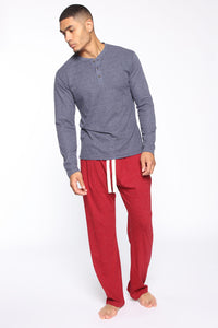 Essential PJ Pants - Red Angle 2