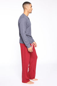 Essential PJ Pants - Red Angle 3