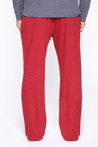 Essential PJ Pants - Red Angle 6