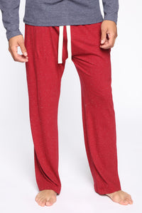 Essential PJ Pants - Red Angle 1