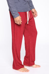 Essential PJ Pants - Red Angle 4