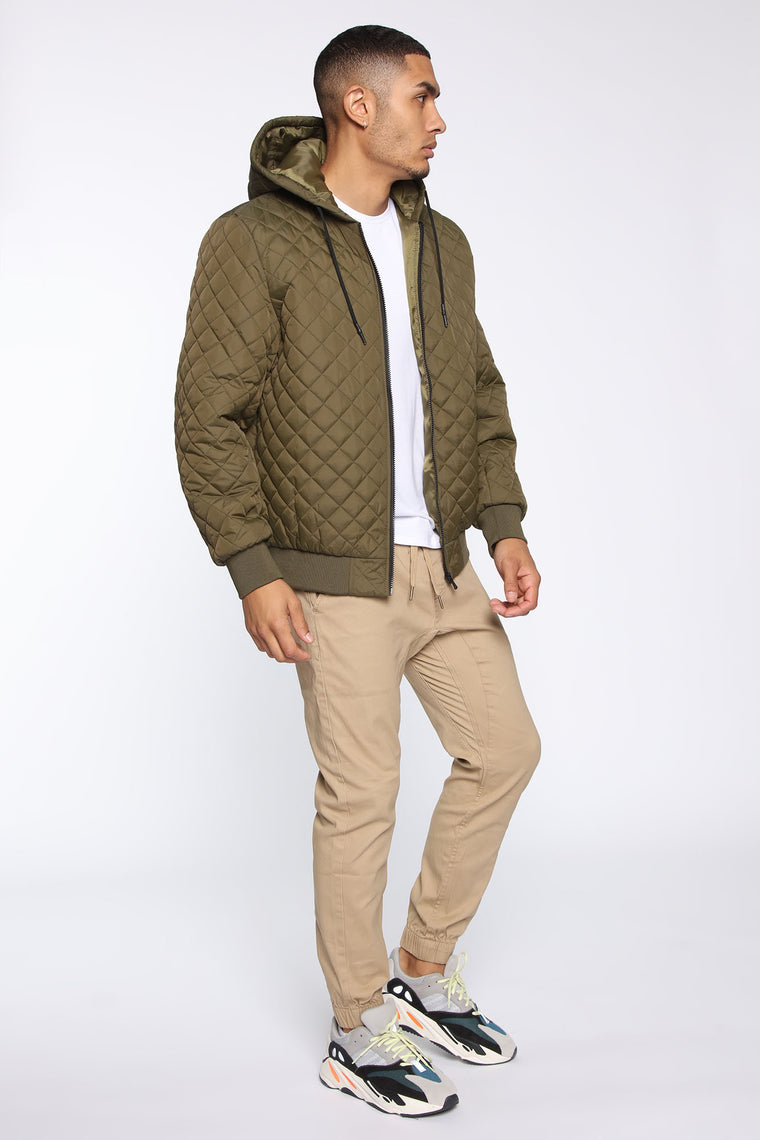 Warren Quilted Jacket - Olive