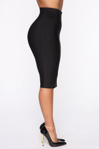 Only Necessary Bandage Skirt - Black