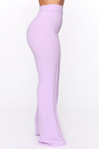 Victoria High Waisted Dress Pants - Lavender Angle 5