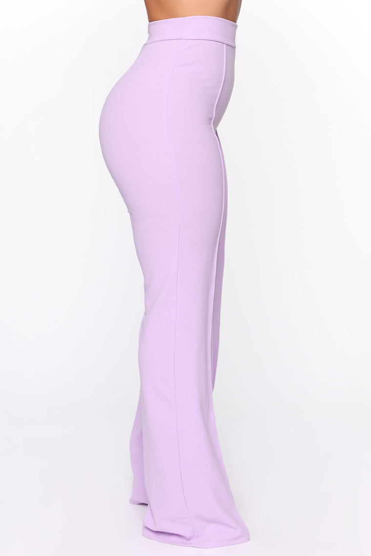 Victoria High Waisted Dress Pants - Lavender