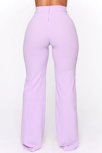 Victoria High Waisted Dress Pants - Lavender Angle 7