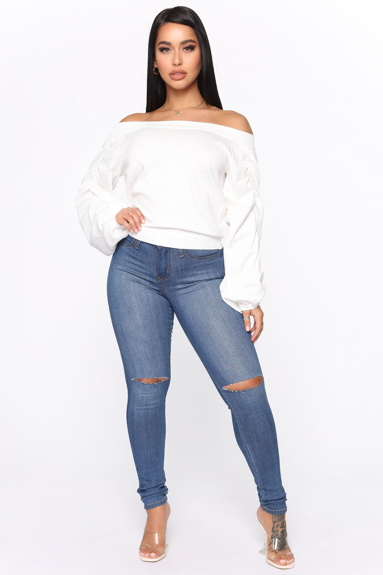 Just My Passion Sweater - Ivory