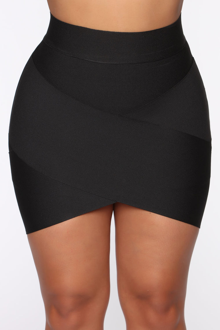 My Friend's Party Bandage Mini Skirt - Black