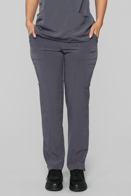 Always On Call Relaxed Fit Scrub Pant - Pewter
