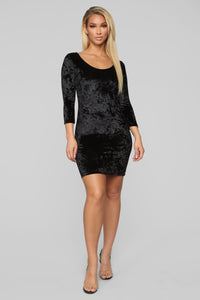 Crushed Your Dreams Dress - Black