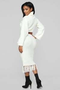 Warm Me Up Skirt Set - Off White