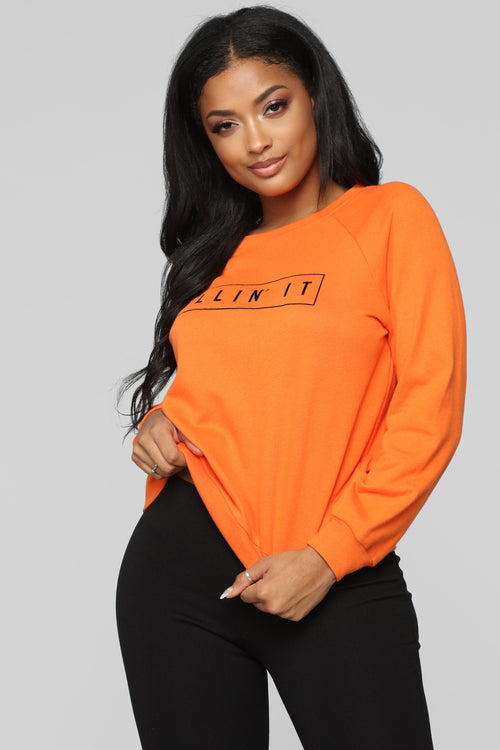 You Are Killing It Sweatshirt - Orange
