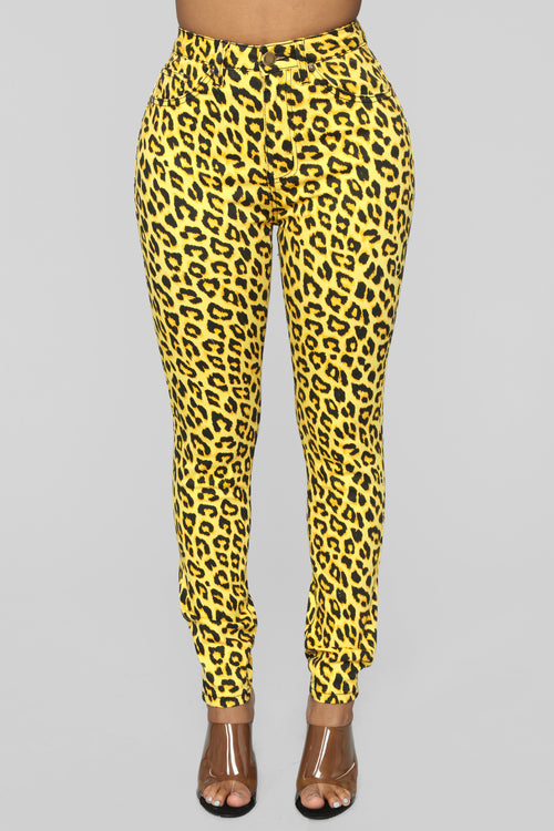 Wild At Heart Skinny Jeans - Yellow