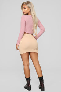 Melanie Mini Skirt - Mocha