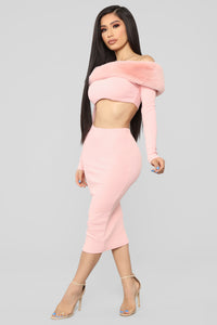 Moscow Moves Skirt Set - Blush