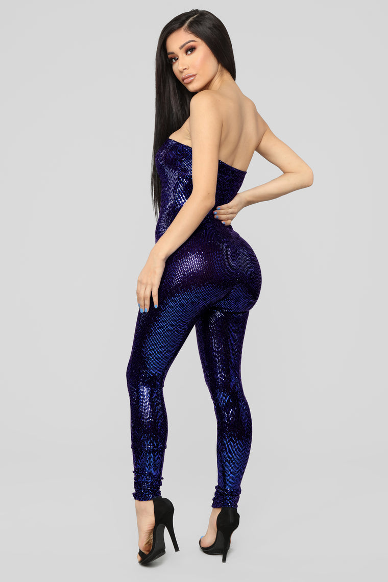 Glitter Nights Jumpsuit - Royal
