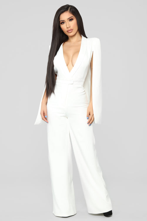Woman Of Many Talents Jumpsuit - Ivory