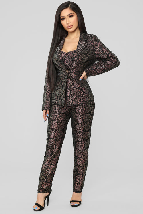 Careless Romance Lace 3 Piece Set - Black/Iridescent
