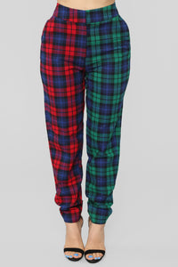 Are You Down Plaid Set - Red/Green Angle 6