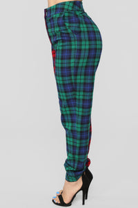 Are You Down Plaid Set - Red/Green Angle 7