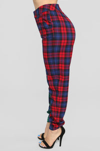 Are You Down Plaid Set - Red/Green Angle 9