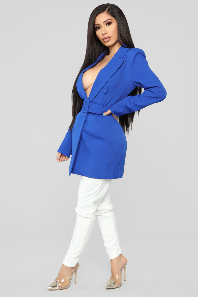 Brighten My Way Jacket - Dusty Blue