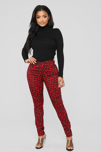 Wild At Heart Skinny Jeans - Red Angle 2