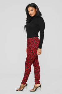 Wild At Heart Skinny Jeans - Red Angle 4