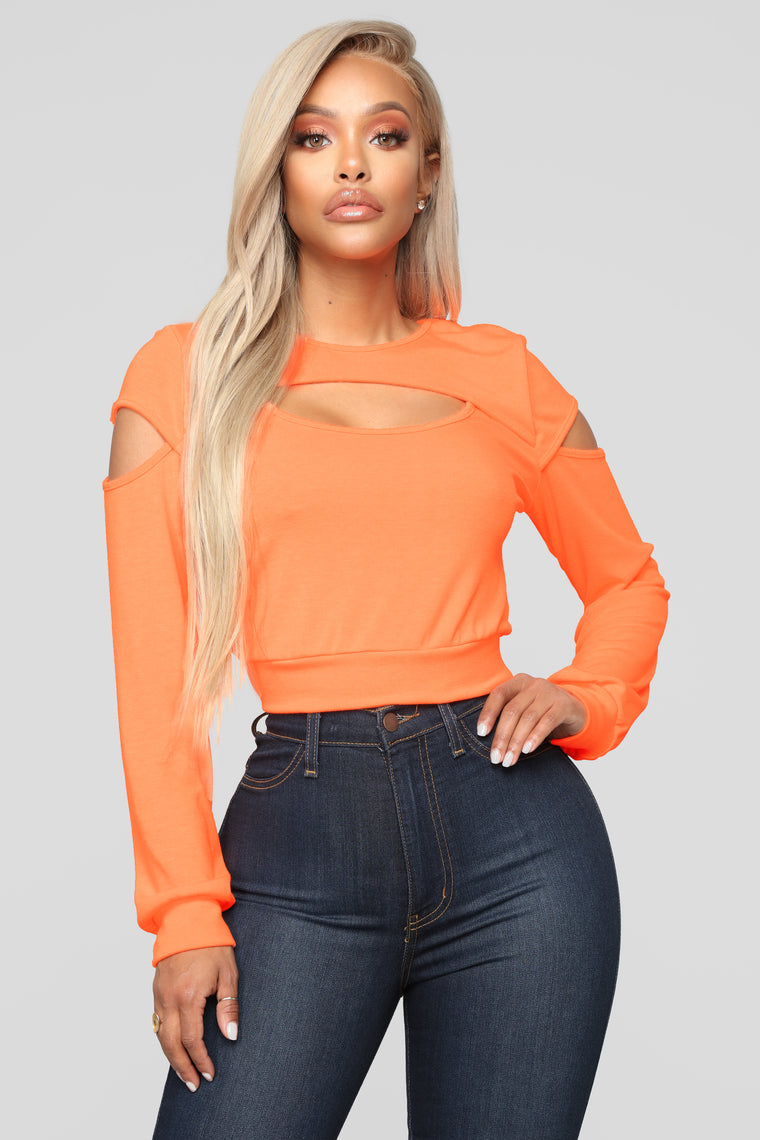 Made The Cut Top - Neon Orange