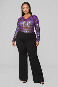 Heaven Only Knows Bodysuit - Purple