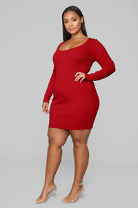 Laced With Grace Lace Up Dress - Red Angle 10