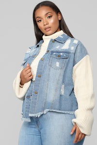 Chill With Me Jacket - Medium Wash Angle 8