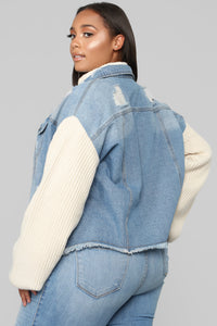 Chill With Me Jacket - Medium Wash Angle 10