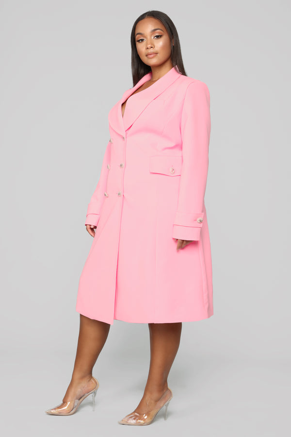 35ede89170 Down Rodeo Drive Trench Coat - Pink