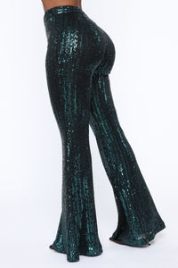 Plans Without You Sequin Pants - Emerald