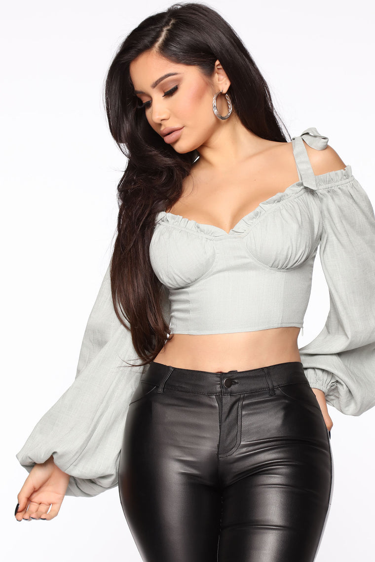 Your Sweet Girl Top   Sage by Fashion Nova