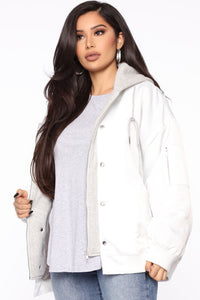 Taking Action Double Layer Jacket - White