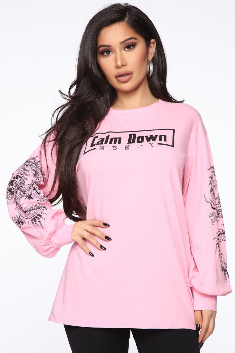 Calm Down Tee   Pink by Fashion Nova