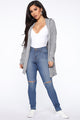 Chill Breeze Duster - Heather Grey